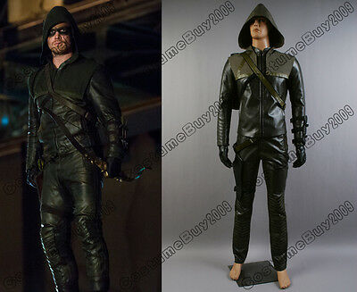 New Green Arrow Oliver Queen Cosplay Costume Custom Made Full Set Outfit Attire