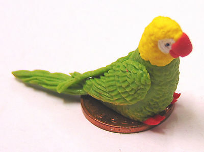 1:12 Scale Small Yellow Clay Parrot Dolls House Exotic Bird Pet Accessory P11