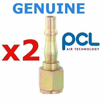"""2 x Genuine PCL tool connector adaptor coupling 1/4"""" BSP Female Air tool fitting"""