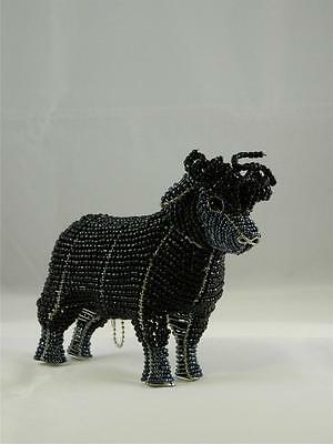 Sheep Black Glass Beads Beaded Wire Hand Crafted Beadworx NWT Lamb