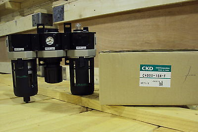 CKD F.R.L. Filter Regulator Lubricator C4000-15N-F