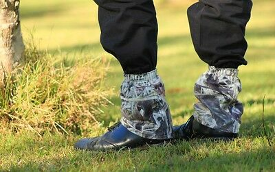 NEW Camo Gaiters - Fleece - Hike, Hunt, Mowing, Footwear Protection