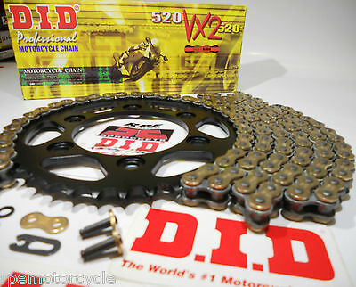 SUZUKI GSXR750 '96/99 DID GOLD X-Ring QUICK ACCELERATION CHAIN AND SPROCKETS KIT