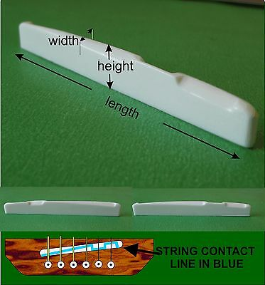 Diagonal Compensating Bone Guitar Saddle. You give Height, Width, Length. PS001d