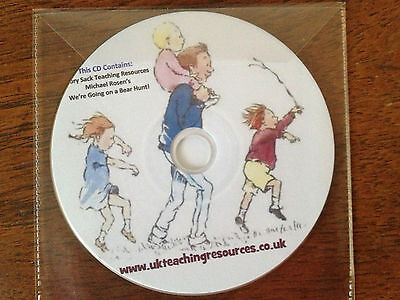 WE'RE GOING ON A BEAR HUNT Story Sack Teaching Resources CD