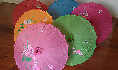 Bamboo rib flower pattern Japanese / Chinese Parasol umbrella Small size