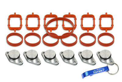 6 x 22 mm Swirl Flap Replacements Removal Blanks Manifold Gaskets for BMW M57