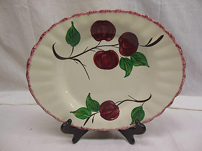 "BLUE RIDGE SOUTHERN POTTERIES ""CRAB APPLE"" LARGE PLATTER  11.5""     ri5-6"