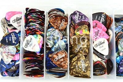Lots of 100pcs Alice Celluloid Acoustic Electric Guitar Picks Plectrums Assorted