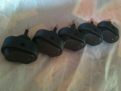 *5 pack* Oval rocker switch ON-OFF with green LED