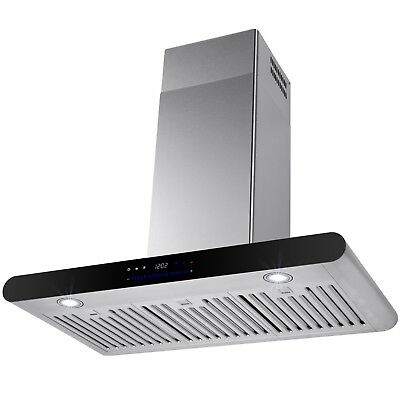 """30"""" Wall Mount Stainless Steel Kitchen Range Hood Stove Vent Touch Control"""