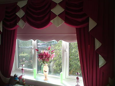 """Scallop Roller Blinds - Made to Measure - 6ft upto 7ft /84""""/210cm - All Fabrics"""