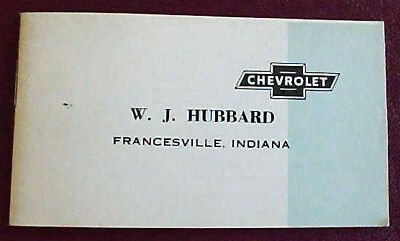 1949 CHEVROLET SMALL 20 PAGE BROCHURE VERY NICE ORIGINAL WITH 10 MODELS