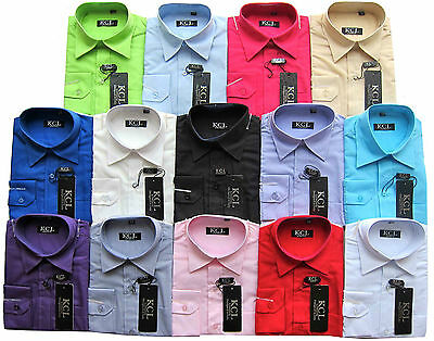 Boys Shirt Formal Smart For Weddings/Party/Casual/Wedding Long Sleeved 1Y-15Y
