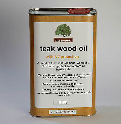 Teak Oil 1 Litre, Bestwood, UV protection, USE THE FINEST QUALITY, buy direct