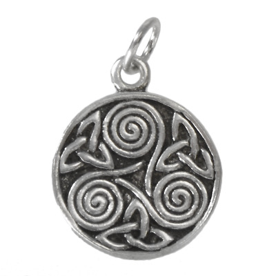 Celtic Triskelion Pendant | TC353 | Sterling Silver Trinity Knot Charm Jewelry