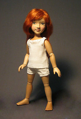 Xenis Collectible Doll - 12-Inch Wooden Dress Up Doll - Sophie