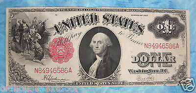 1917 Large Size United States Note $1, Very Fine+  (P-85)