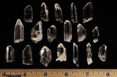 Arkansas Crystal Quartz - Small Points from Avatar Crystal Mine - 10 Pieces