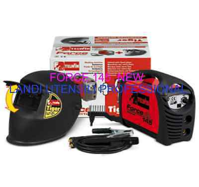 SALDATRICE INVERTER FORCE 145 TELWIN+ACCESSORI+MASCHERA  ELETTRODI  Ø1.6- 3,2mm