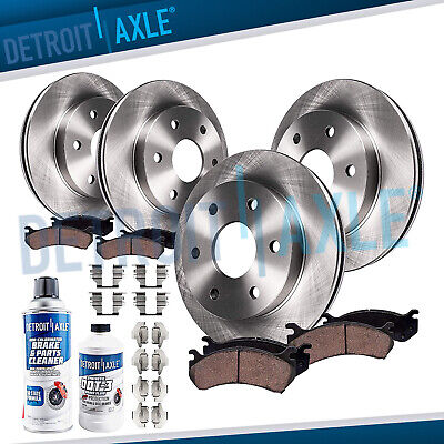 2004 2005 2006 2007 2008 FORD F-150 4X4 6-Lug Front & Rear Rotors + Ceramic Pads