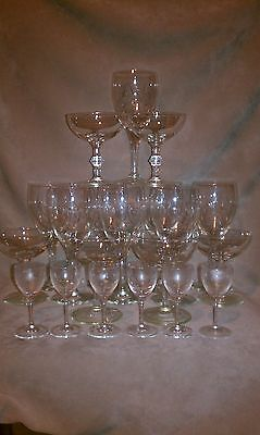 VINTAGE CRYSTAL WINE GOBLETS, SHERBERT CUPS - BEAUTIFUL SET!