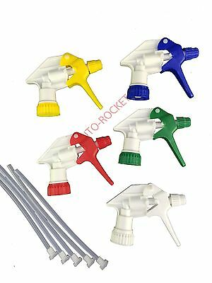 5 x Trigger Spray Heads. Chemical Resistant (hydroponics, Valeting, Bottles)