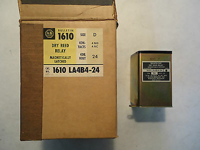 New In Box Allen Bradley 1610 La4B4-24 Dry Reed Relay