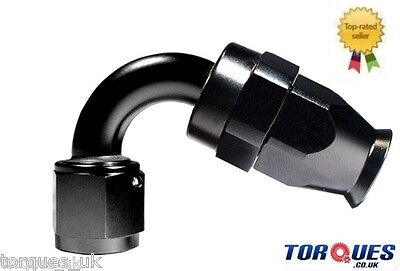 AN -10 (10AN JIC AN10) 120 Degree Teflon Stealth Black Hose Fitting