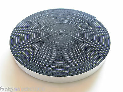 Neoprene Rubber Self Adhesive Strip - 10Mtrs Long X Various Sizes