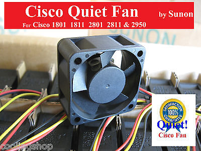 Quiet Version! Cisco Replacement fan for Cisco Routers & Switches 2801 2811 2950