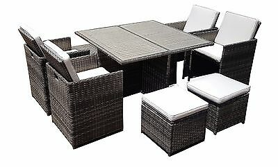 Rattan Wicker Conservatory Outdoor Garden Furniture Patio Cube Table Chair Set