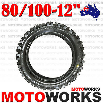 "80/100 - 12"" Inch Rear Back Knobby Tire 70 90 110 125cc PIT TRAIL DIRT BIKE Pro"