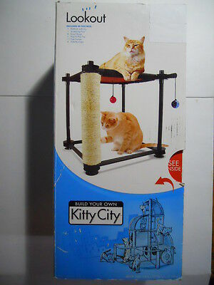 LOOKOUT New Build Your Own Kitty City Cat Furniture Toy Crib NIB HOME #440