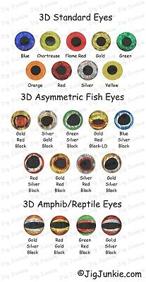 3D Holographic Fishing Lure Eyes - Best In Value!!!! - Ships From Usa