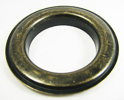 """6pc. Antique Brass Curtain Grommets & Washers - #12 Size (1.5"""" Hole)"""