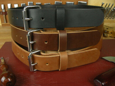 "1 3/4""_Heavy Duty Leather Work_Ccw Gun Holster_Tool Belt_Amish Handmade_1.75"""