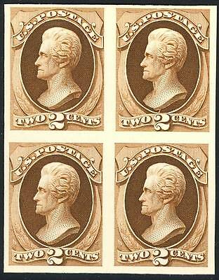 193P4, Unlisted Rare Plate Proof On Card Block Of Four