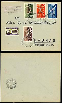 Lithuania 1938 Olympics Cover