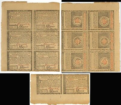 Rhode Island July 1780 Act Unsigned Part Sheet/6 & Pair