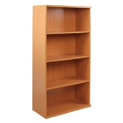Office Furniture Wooden Bookcase Adjustable Easy Assembly Beech Effect New