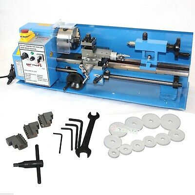 """7"""" x 14"""" Mini Metal Lathe Variable Speed Spindle 550W DC Motor w/LCD Display"""