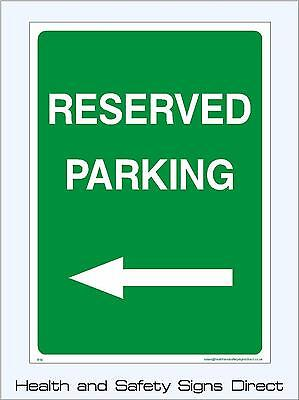 Reserved Parking Left Signs & Stickers Large Sizes! Thick Materials! (P19)