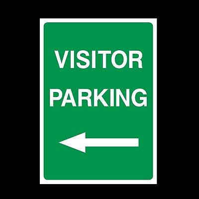 Visitor Parking Left Signs & Stickers Large Sizes! Thick Materials! (P15)