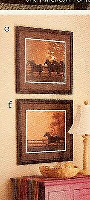 Longaberger Art Running For Home Print Horses Running Wall Decor NEW IN BOX
