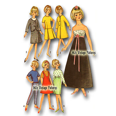 "Vtg 1960s 12"" Tammy Doll Clothing Pattern ~ Misty, Jan, Terry also fits Barbie"