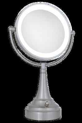 Zadro Led Lighted 1x10x Round Vanity Mirror In Satin Nickel