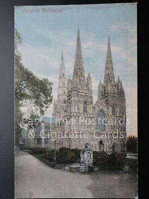 Lichfield Cathedral c1905 - showing Water Pump