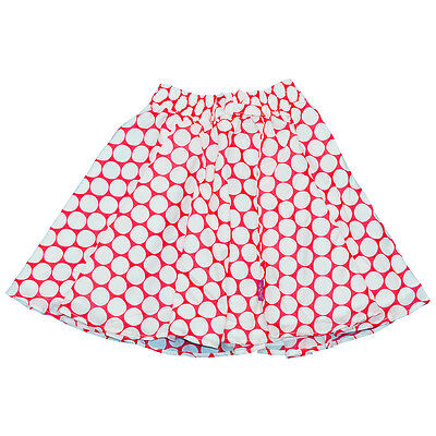 Girls Spot Print Skirt Red White Cotton Bow Lining Emma Bunton Size 7-8 Years
