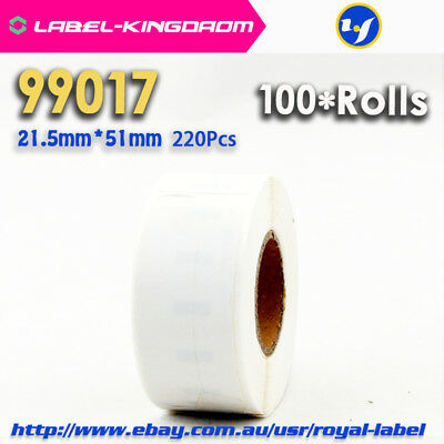 100X Rolls 99017 Compatible Labels for DYMO LabelWriter 21.5X51mm 220Pcs/Roll